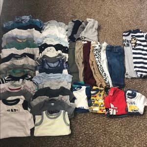 Baby Boys Clothing Lot Size 6-18 Months 55 Pieces